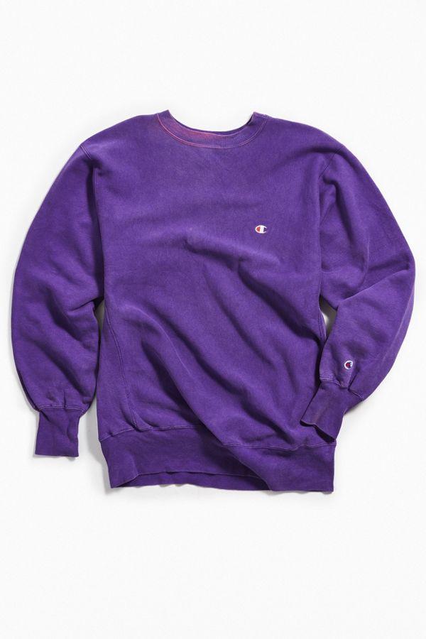 e15ddb15805f Vintage Champion Purple Crew Neck Sweatshirt | Urban Outfitters