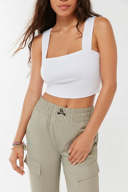 7cd1b393bbe Straight Neck - Women's Tops | Urban Outfitters