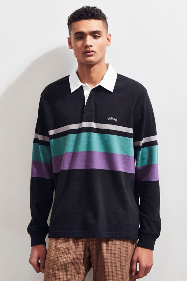 606b345b04c Stussy Lucas Stripe Rugby Shirt   Urban Outfitters