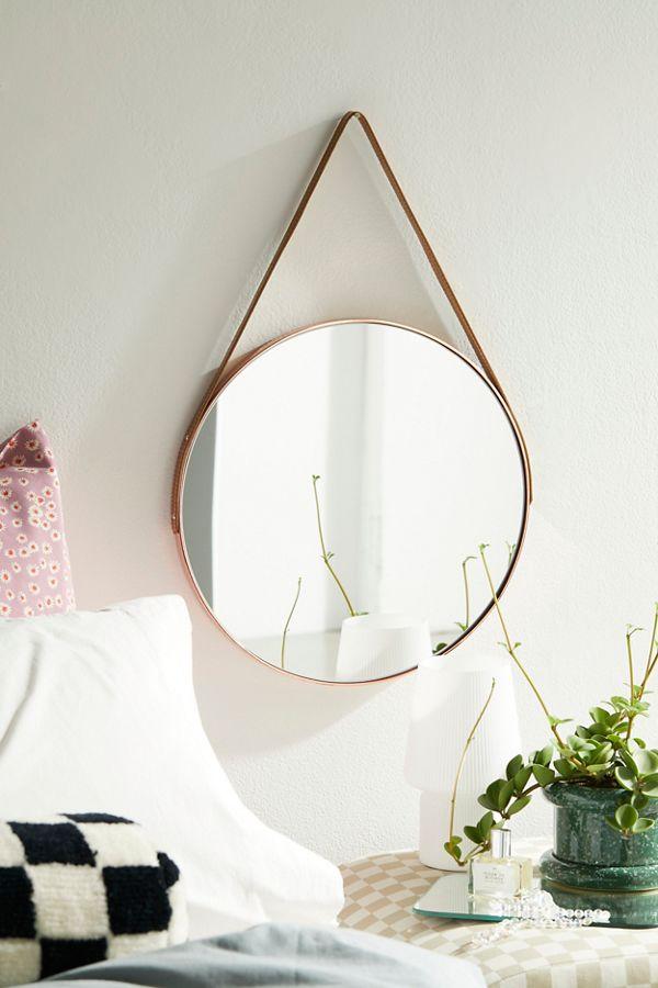 Carson Leather Strap Mirror