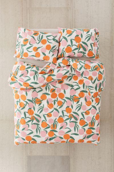 Peaches Duvet Set Urban Outfitters