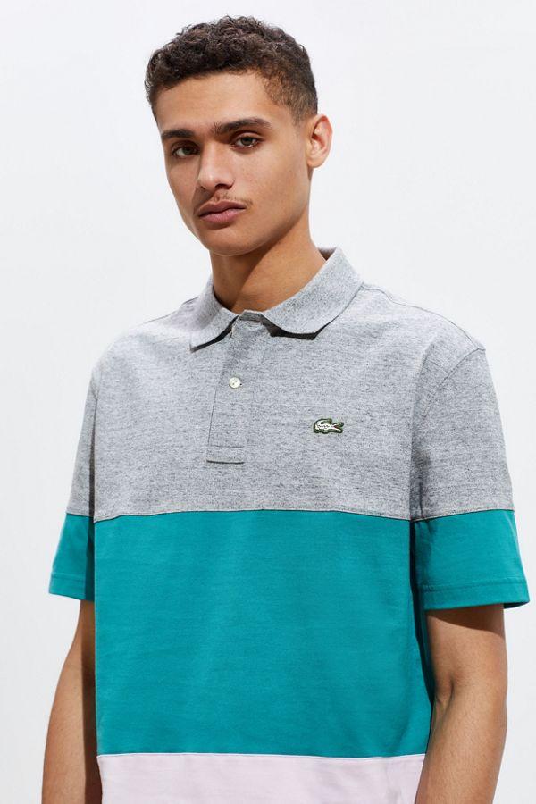 652e40e660 Lacoste LIVE Colorblock Polo Shirt