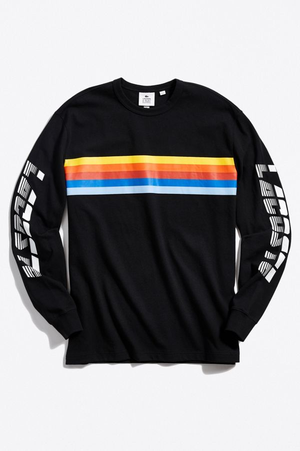 5b5bbe8062 T-shirt à manches longues en jersey Lacoste | Urban Outfitters Canada