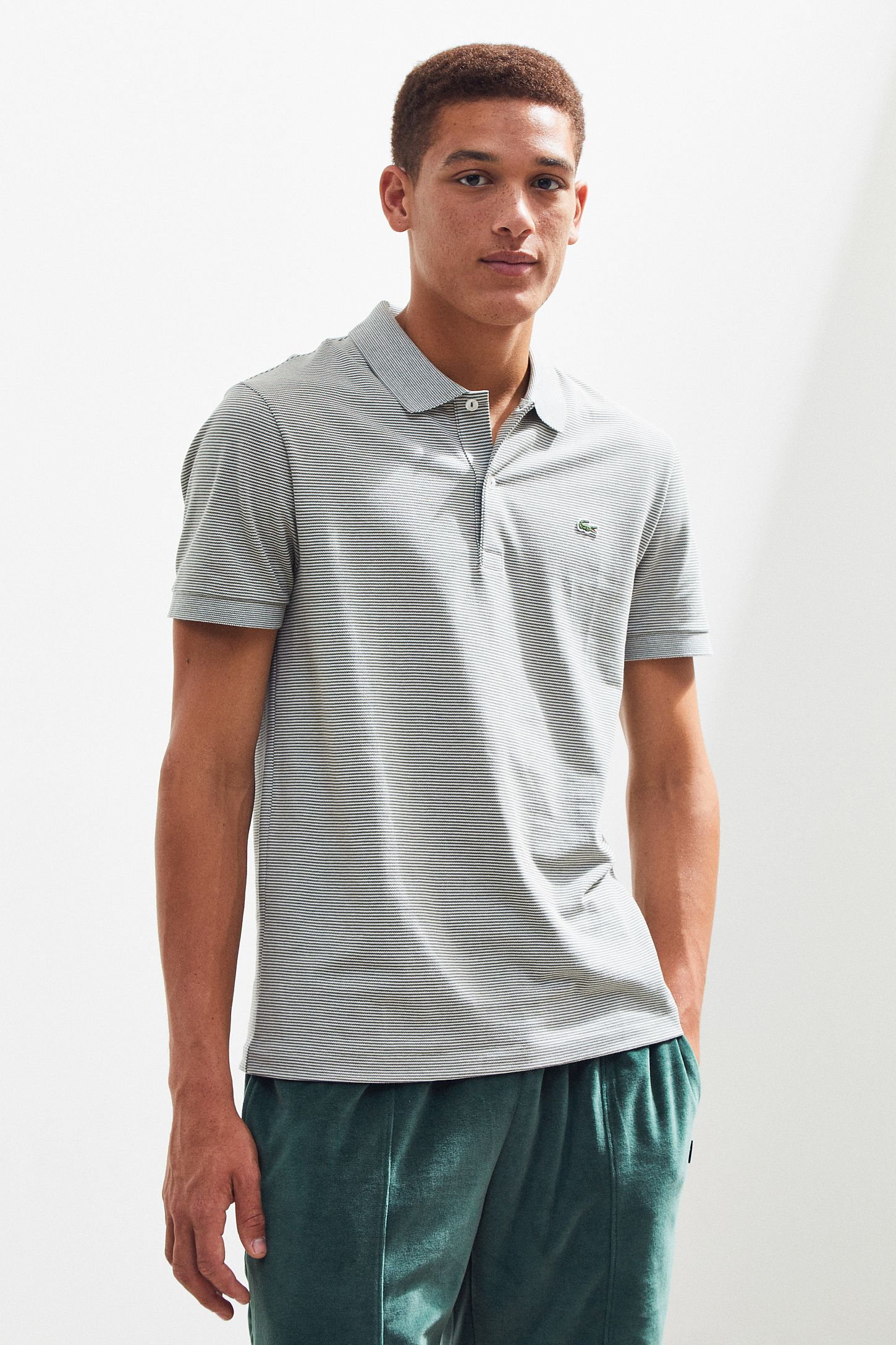 ede96f18 Lacoste Mini Stripe Pique Polo Shirt