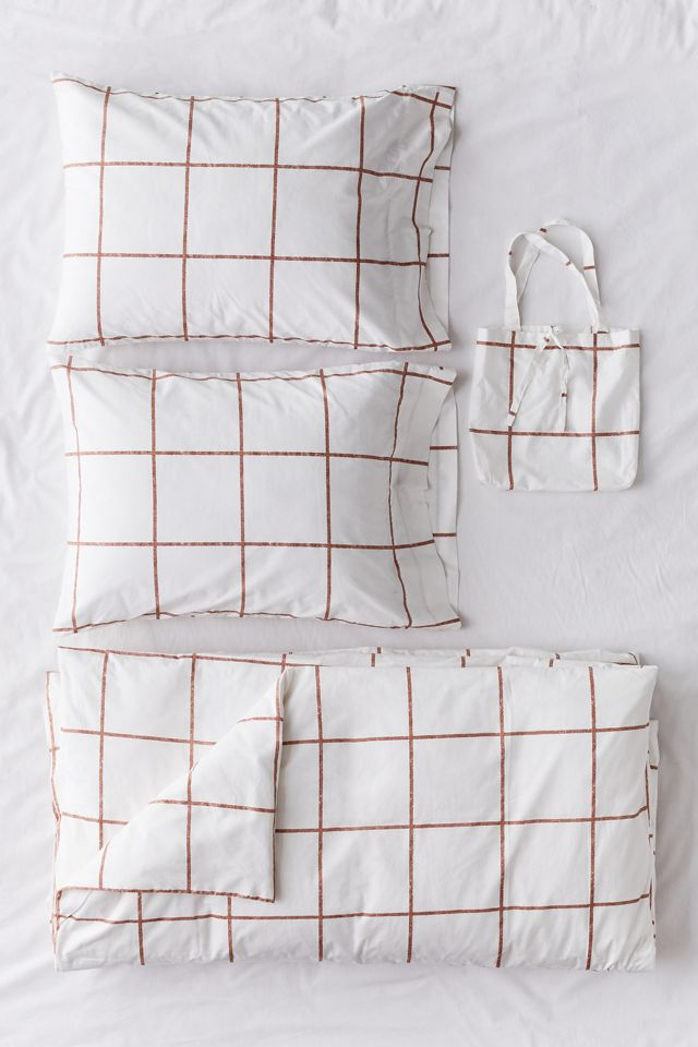 Distressed Check Duvet Set Urban Outfitters