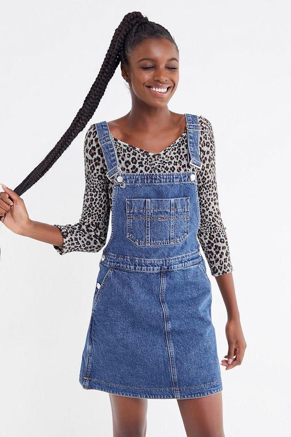 9ad3b48c286 Tommy Jeans Denim Dungaree Mini Dress