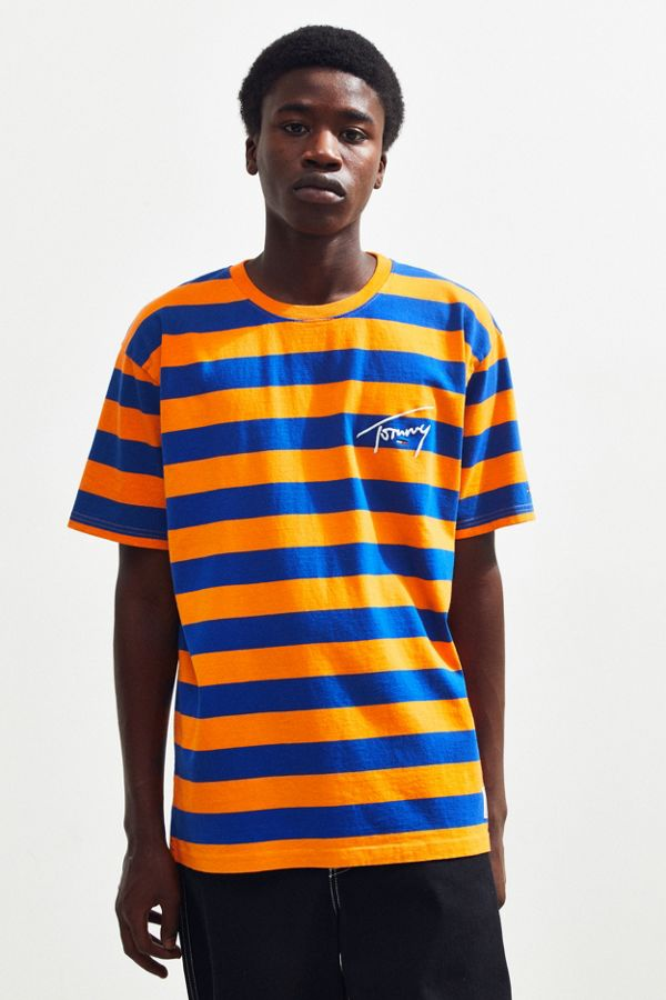8fe62d054e Tommy Jeans Striped Signature Tee | Urban Outfitters