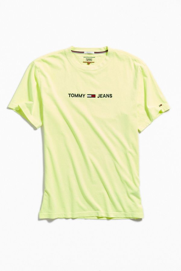 62c0ec78 Tommy Jeans Small Text Tee | Urban Outfitters