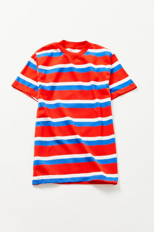 e1683c89c1 Vintage '90s Red, White + Blue Striped Tee | Urban Outfitters