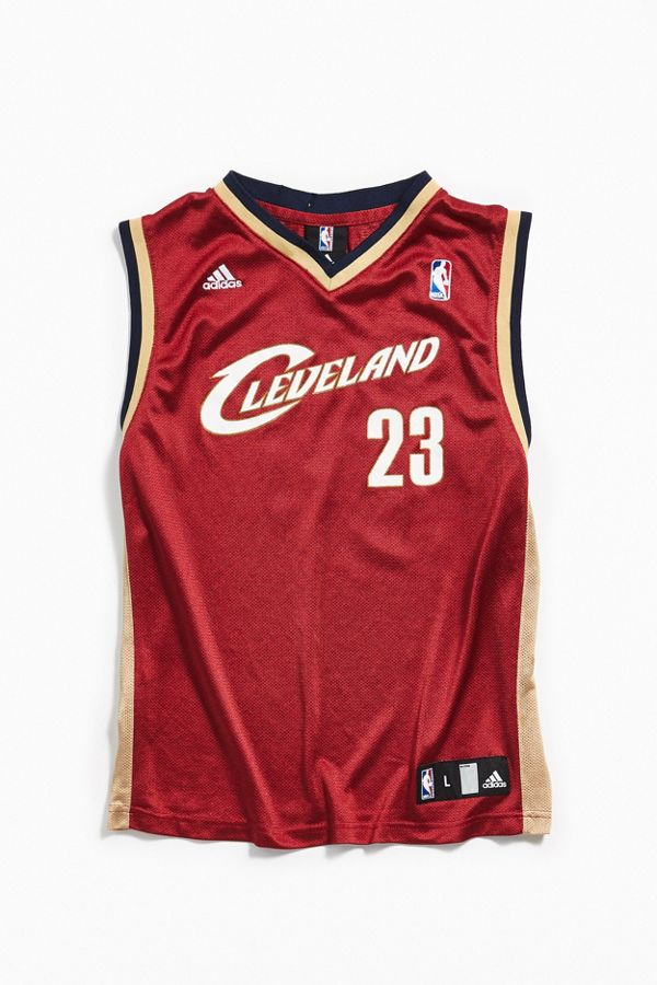 quality design 5c7a0 96a92 Vintage adidas Cleveland Cavaliers LeBron James Basketball Jersey