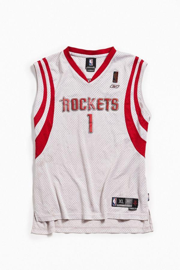 ef2d4cc4485 Vintage Reebok Houston Rockets Tracy McGrady Basketball Jersey ...