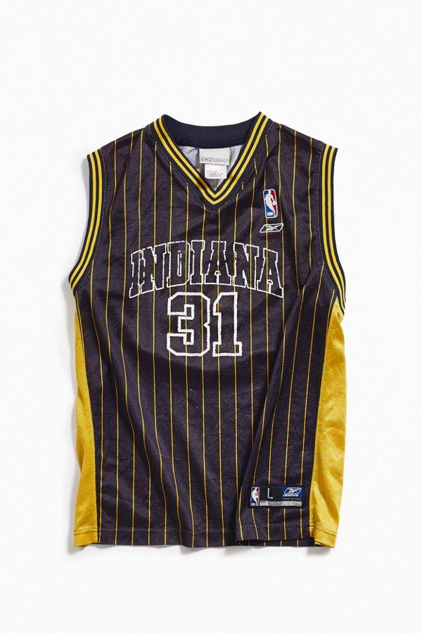 hot sale online ef148 0e47b Vintage Reebok Indiana Pacers Reggie Miller Basketball Jersey