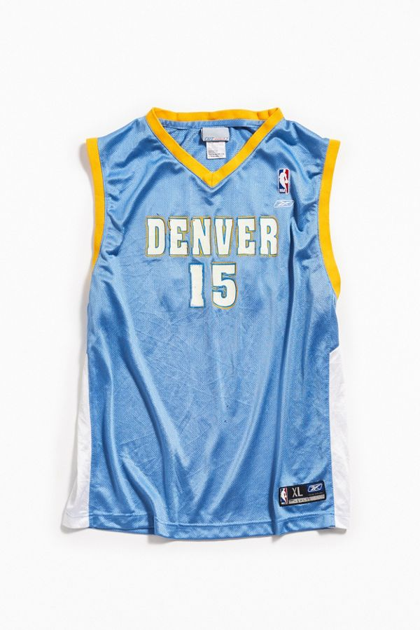 the latest a8b49 9dd03 Vintage Reebok Denver Nuggets Carmelo Anthony Basketball Jersey