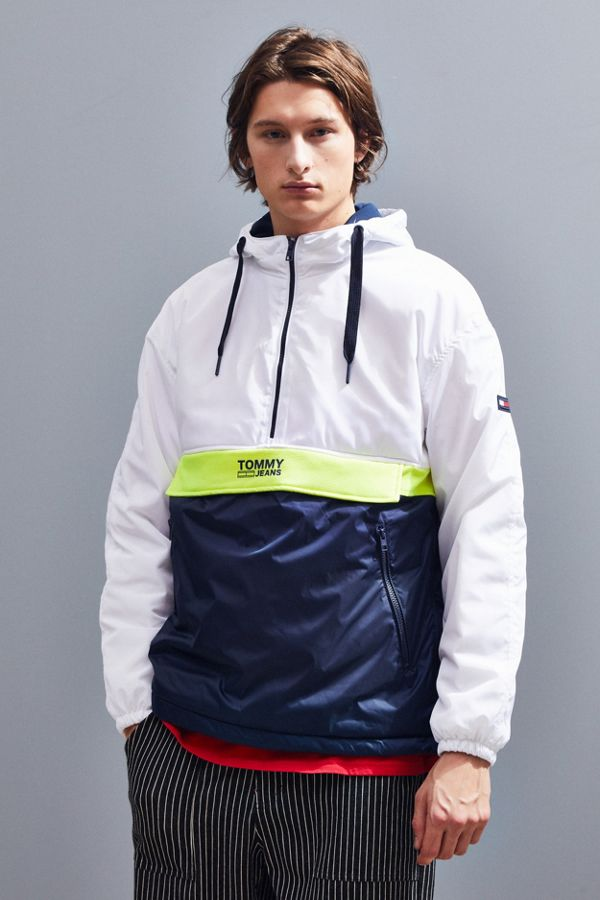 5b29a2937 Tommy Jeans Colorblock Half-Zip Windbreaker Jacket | Urban Outfitters