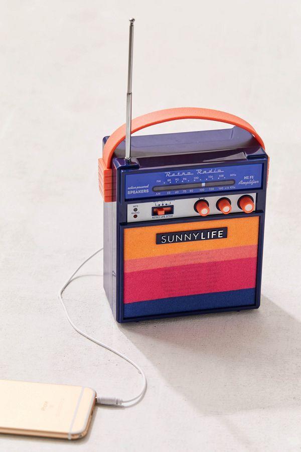 Sunnylife Retro Sounds Radio Speaker