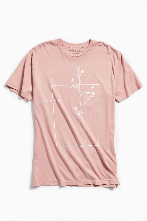 b65803e8 Shawn Mendes Floral Tee | Urban Outfitters