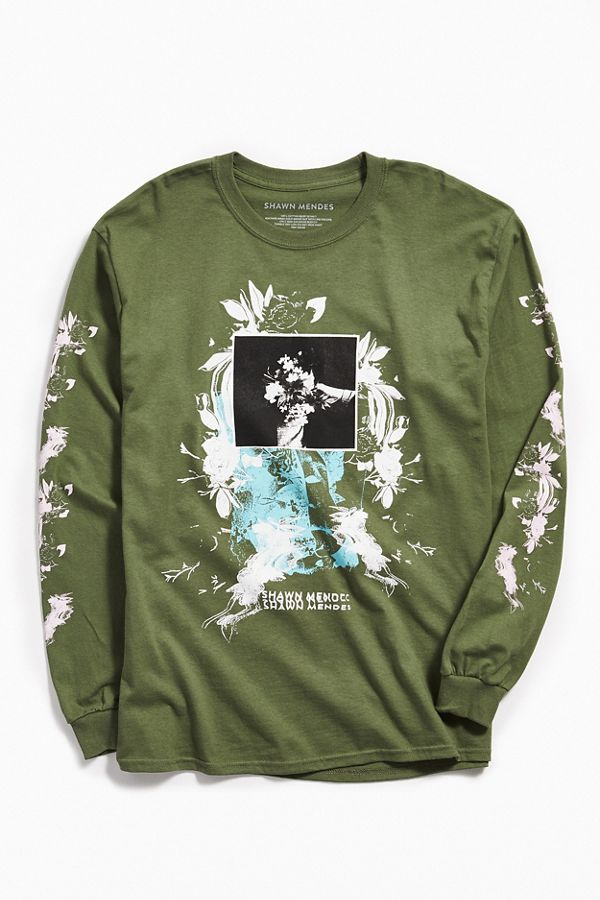 27b845891 Shawn Mendes Floral Long Sleeve Tee | Urban Outfitters