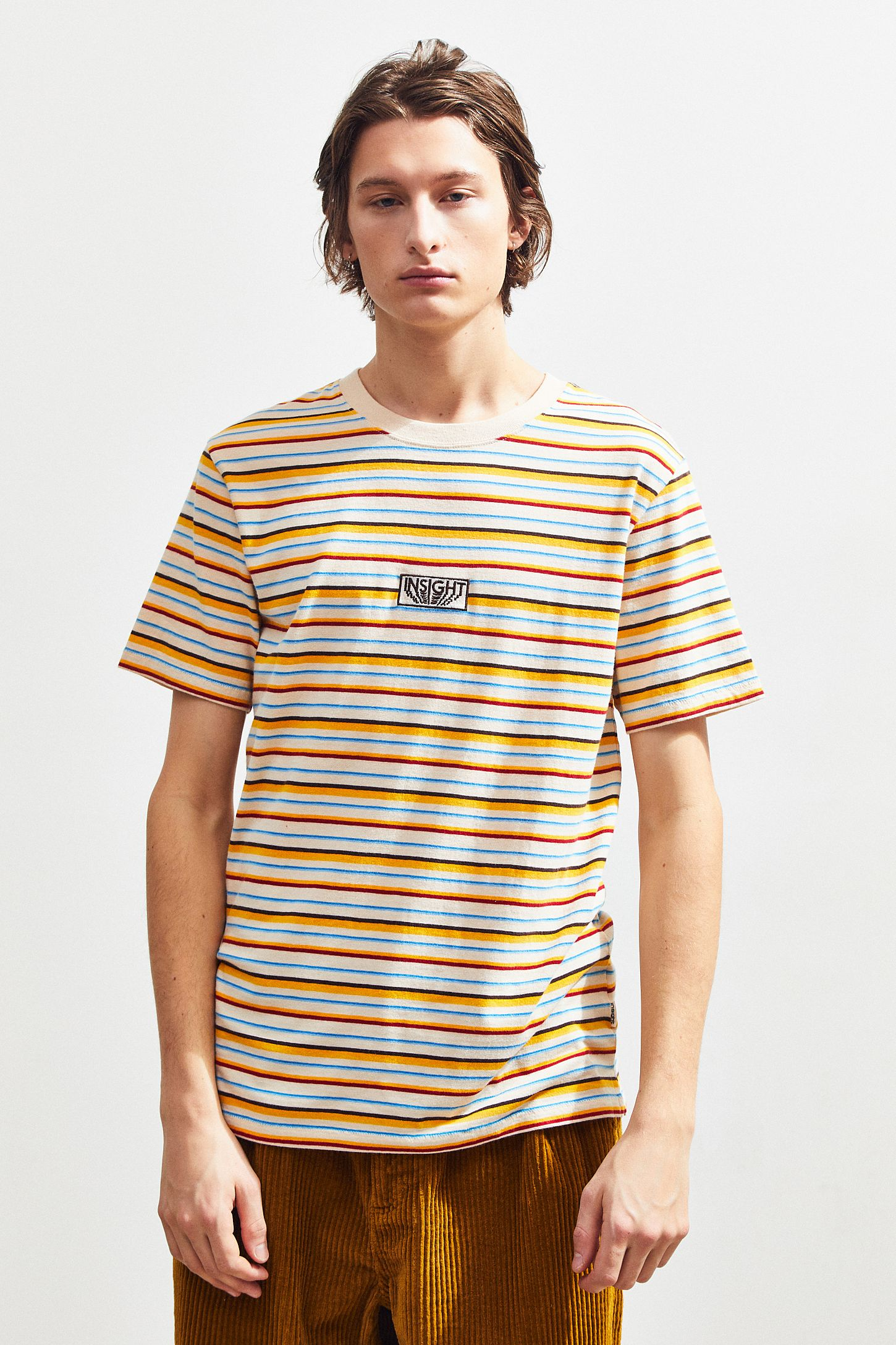 274c6616 Guess Jeans Shirt Striped Yellow | Huston Fislar Photography