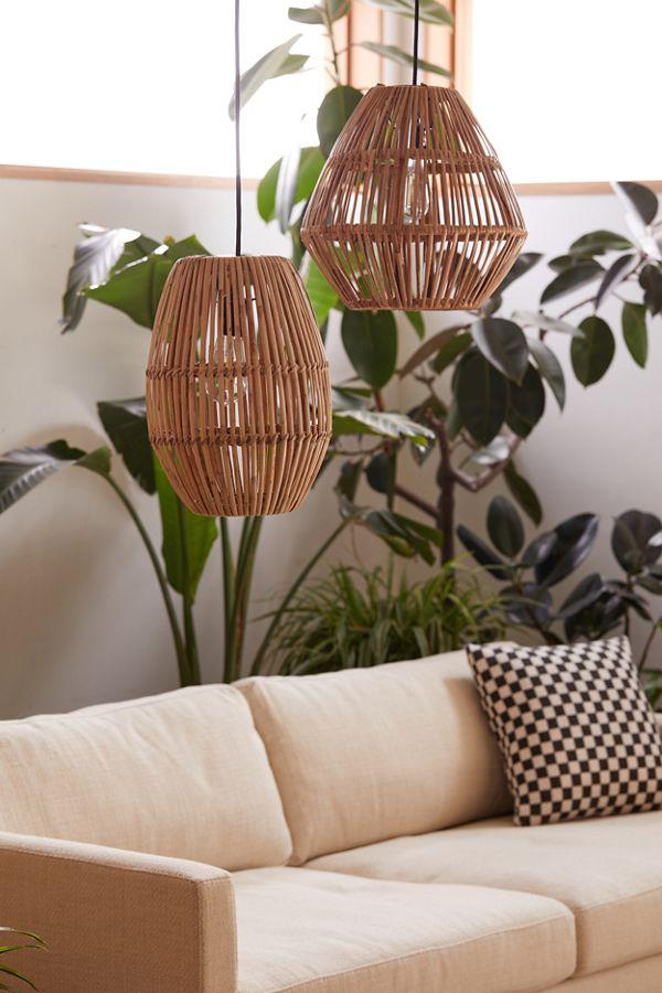 promo code 2bac9 4feb8 Bamboo Woven Pendant Light