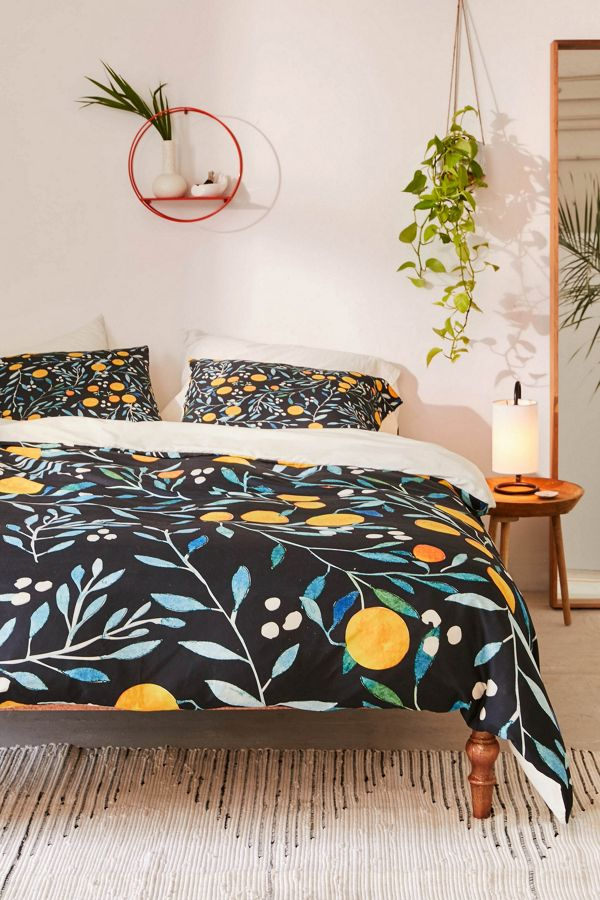Slide View: 1: Ilsa Monttinen For Deny Orange Mania Duvet Cover