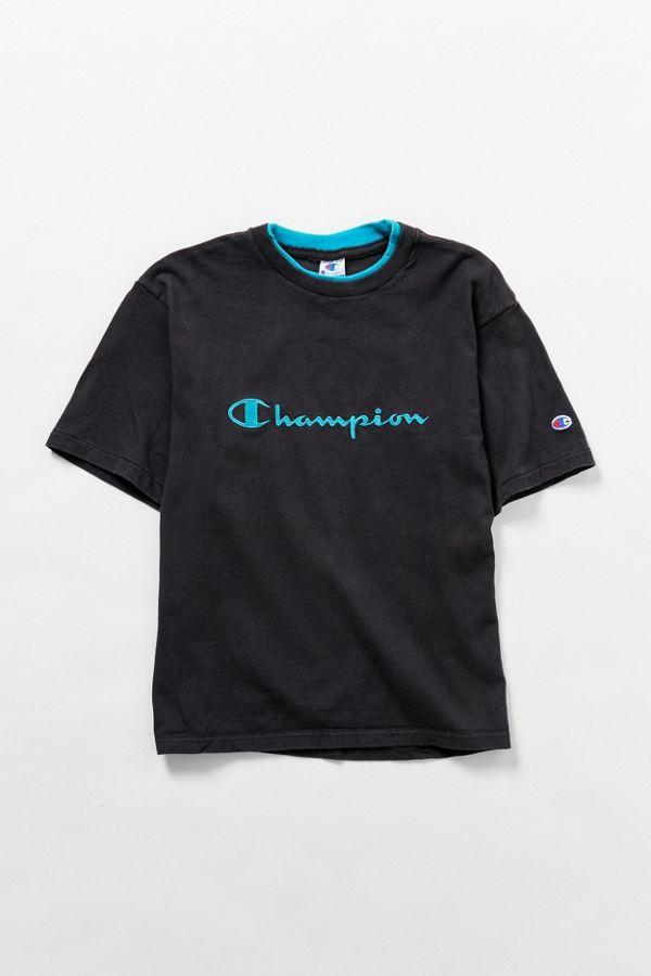 ba91cab7 Vintage Champion Short Sleeve Sweatshirt | Urban Outfitters