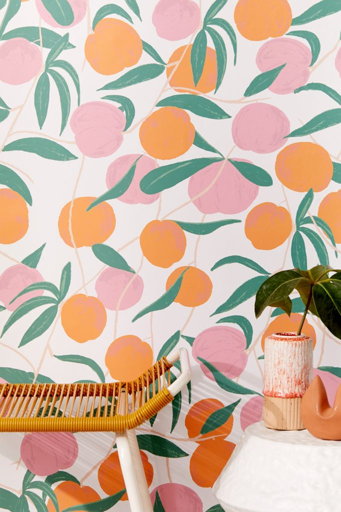 Peaches Removable Wallpaper Urban Outfitters