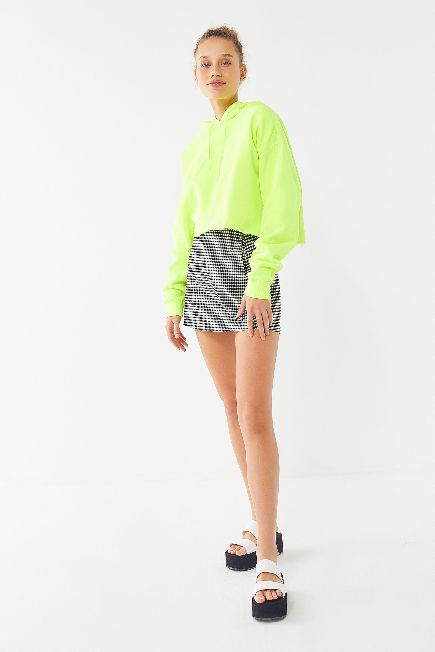 22caeec550f Out From Under Cropped Hoodie Sweatshirt | Urban Outfitters