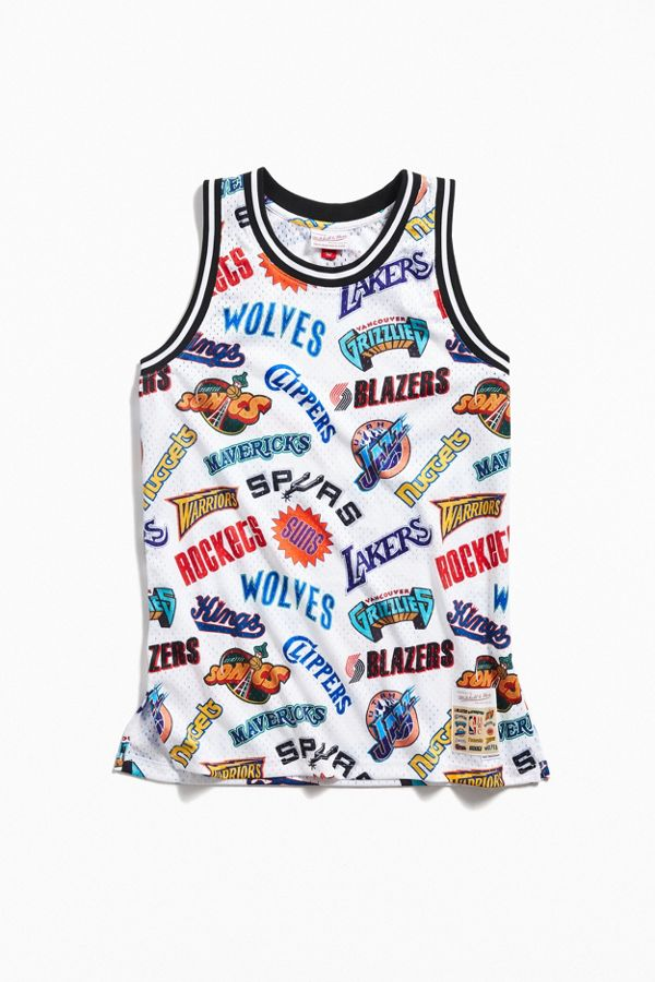 new style 75645 24759 Mitchell & Ness Allover Western Swingman Basketball Jersey
