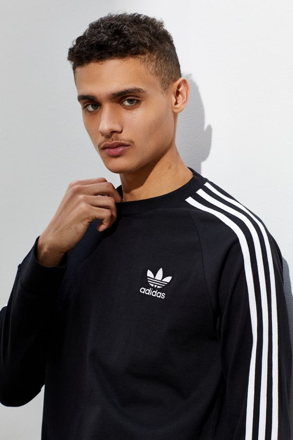 5c61361576 adidas 3-Stripes Long Sleeve Tee | Urban Outfitters