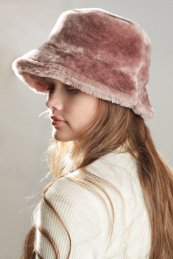 b3c81c501e610 Brixton Hardy Furry Bucket Hat