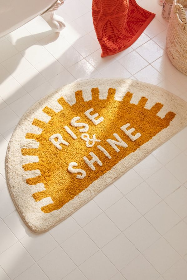 Slide View: 1: Rise And Shine Bath Mat