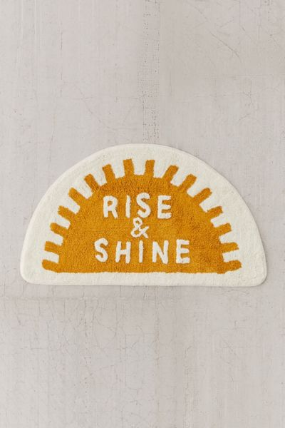 Rise And Shine Bath Mat Urban Outfitters