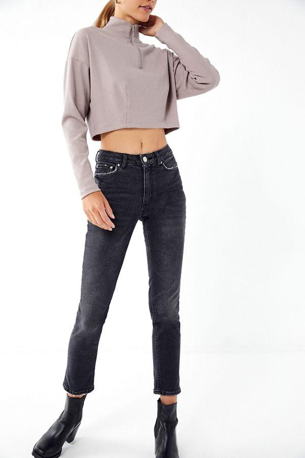 2da9d1c323be BDG Mid-Rise Slim Straight Jean – Black | Urban Outfitters