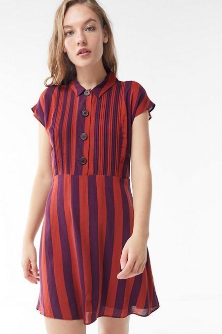 226934d8d8 UO Nancy Short Sleeve Shirt Dress
