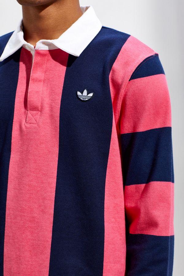 wholesale dealer 13676 afd9b adidas Vertical Stripe Rugby Shirt