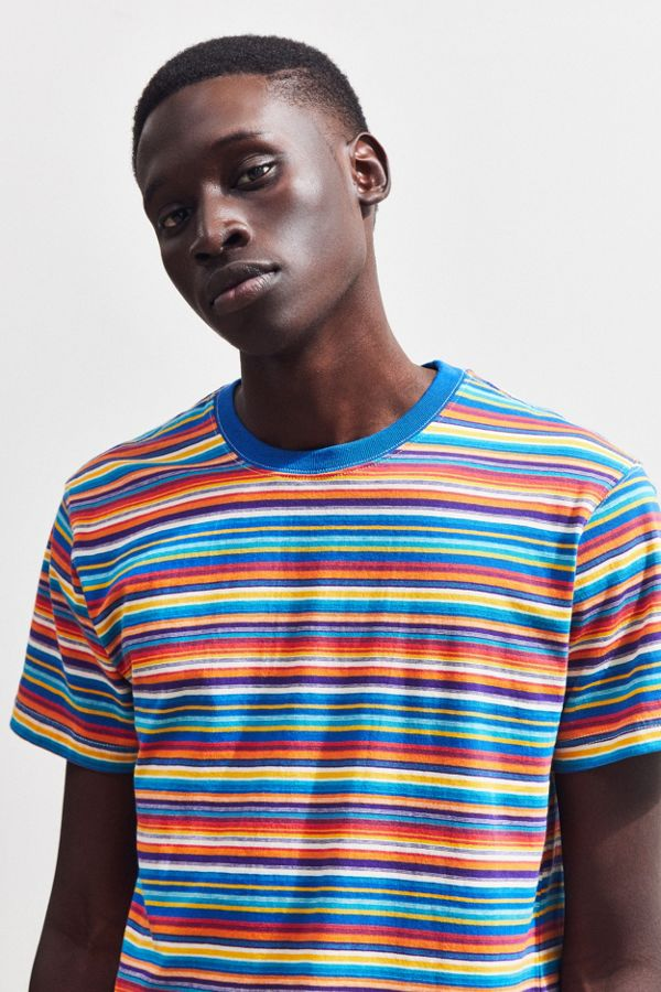 90a344a773 UO Rainbow Stripe Tee | Urban Outfitters