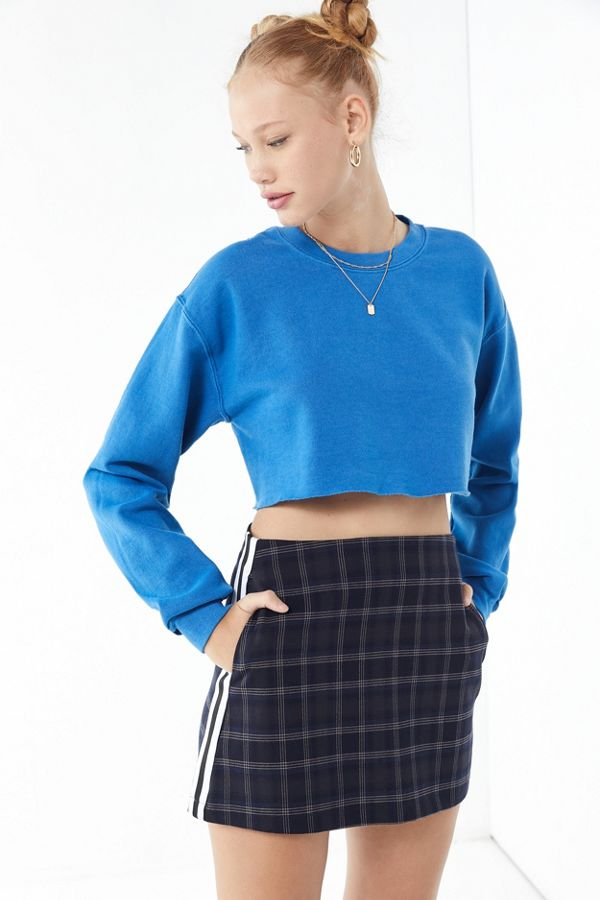 b5ce37904 UO Trevor Plaid Side Stripe Mini Skirt | Urban Outfitters