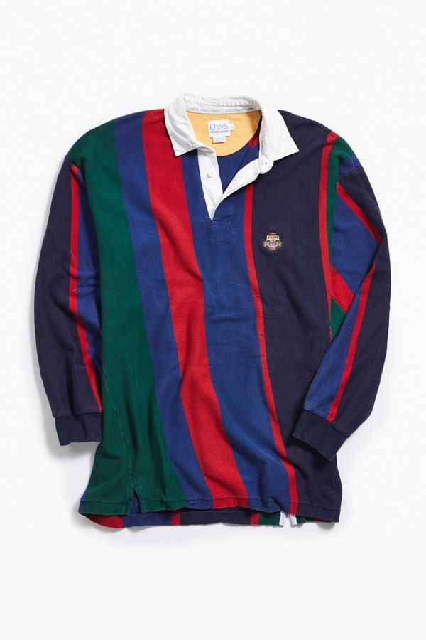 963b20a1501 Vintage Chaps Complimentary Striped Rugby Shirt | Urban Outfitters