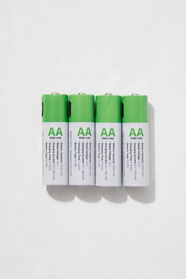 100 Percent USB-Rechargeable AA Battery - Set Of 4