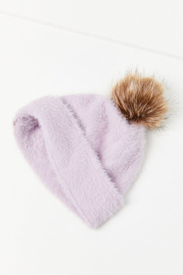 605e2802205 Slide View  4  Fuzzy Furry Pompom Beanie