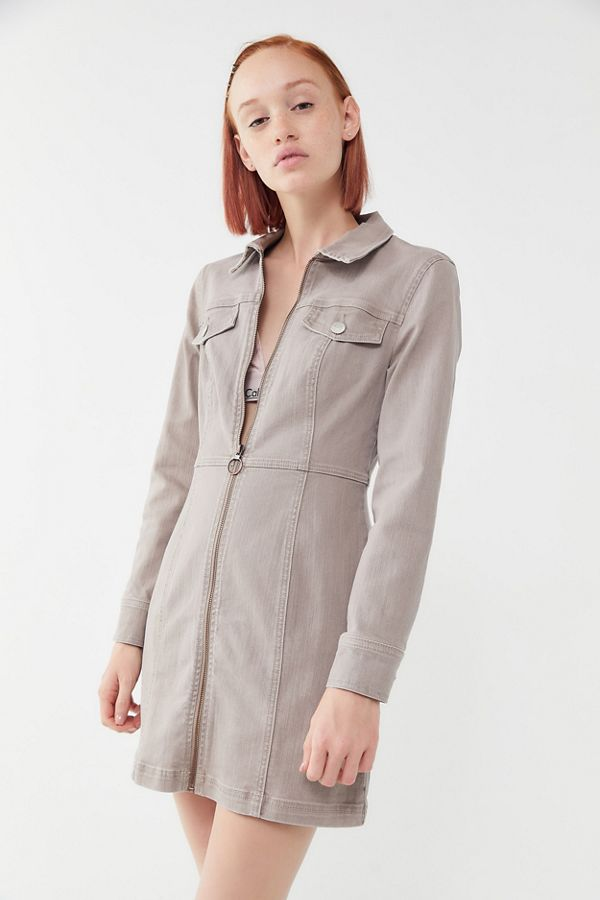 f5ab70e53ca0 UO June Zip-Front Mini Dress | Urban Outfitters