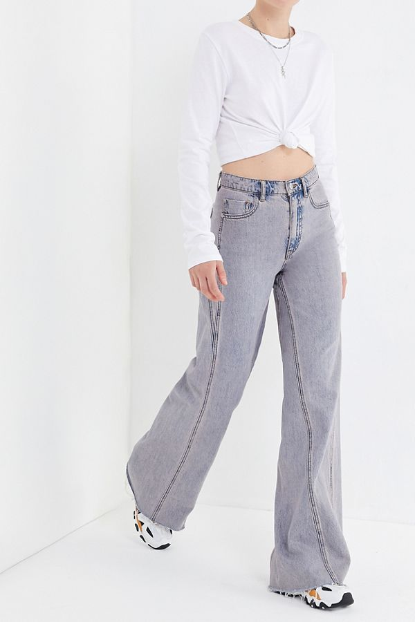 29b531cd36 BDG Willa High-Rise Wide Leg Jean – Washed Lavender | Urban Outfitters