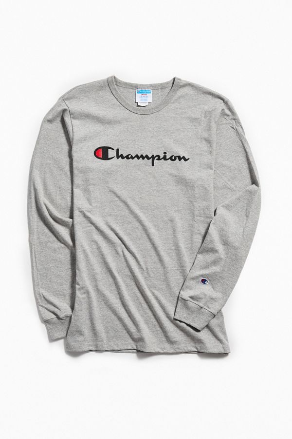 8c77c449 Champion Script Ink Long Sleeve Tee | Urban Outfitters