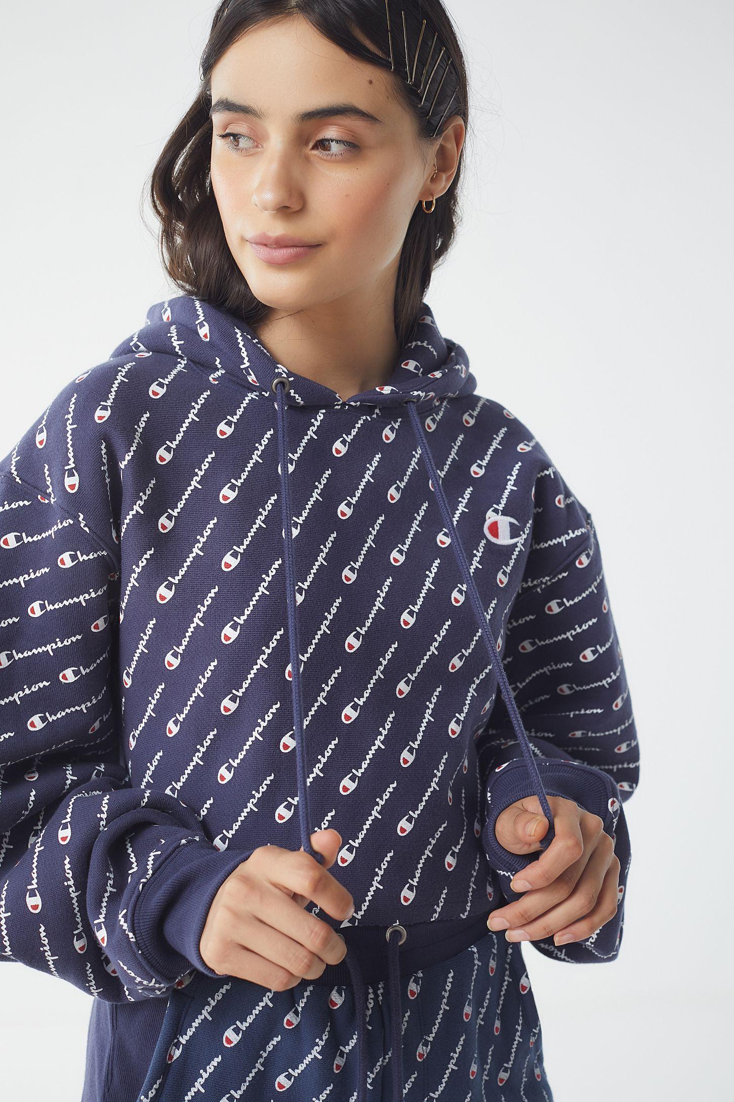 Sweatshirt Weave Print Champion Reverse Hoodie All Over DIH2WE9