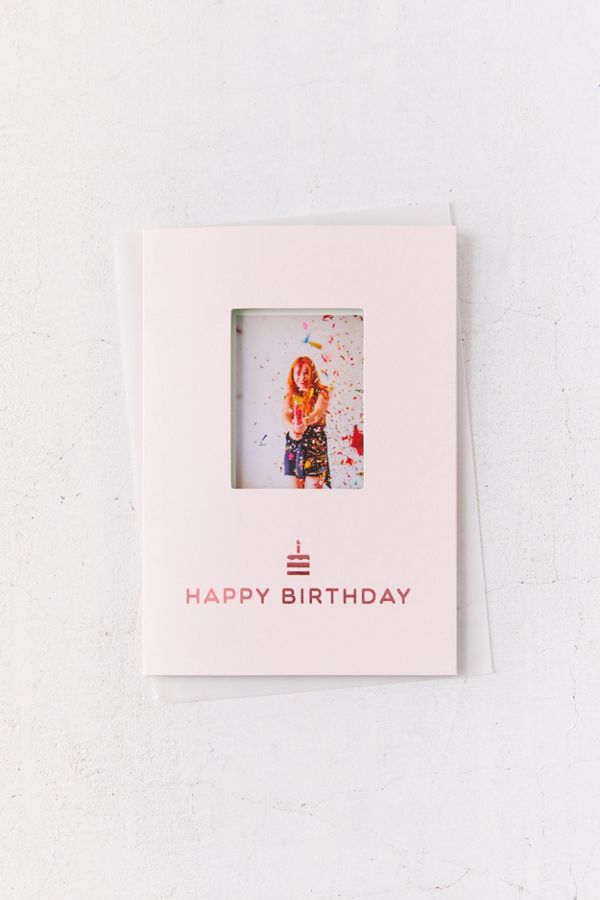 Instax UO Exclusive Mini Insert Birthday Card