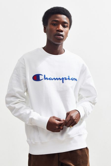 Champion Chain Stitch Script Crew Neck Sweatshirt