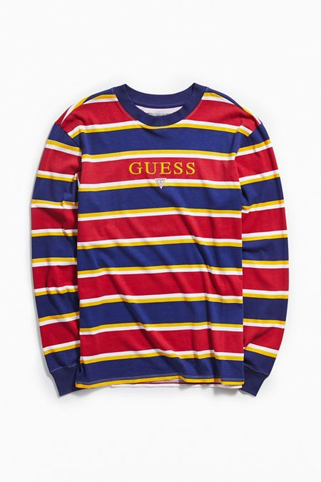 0f94dd6e378 GUESS Kenmore Striped Long Sleeve Tee