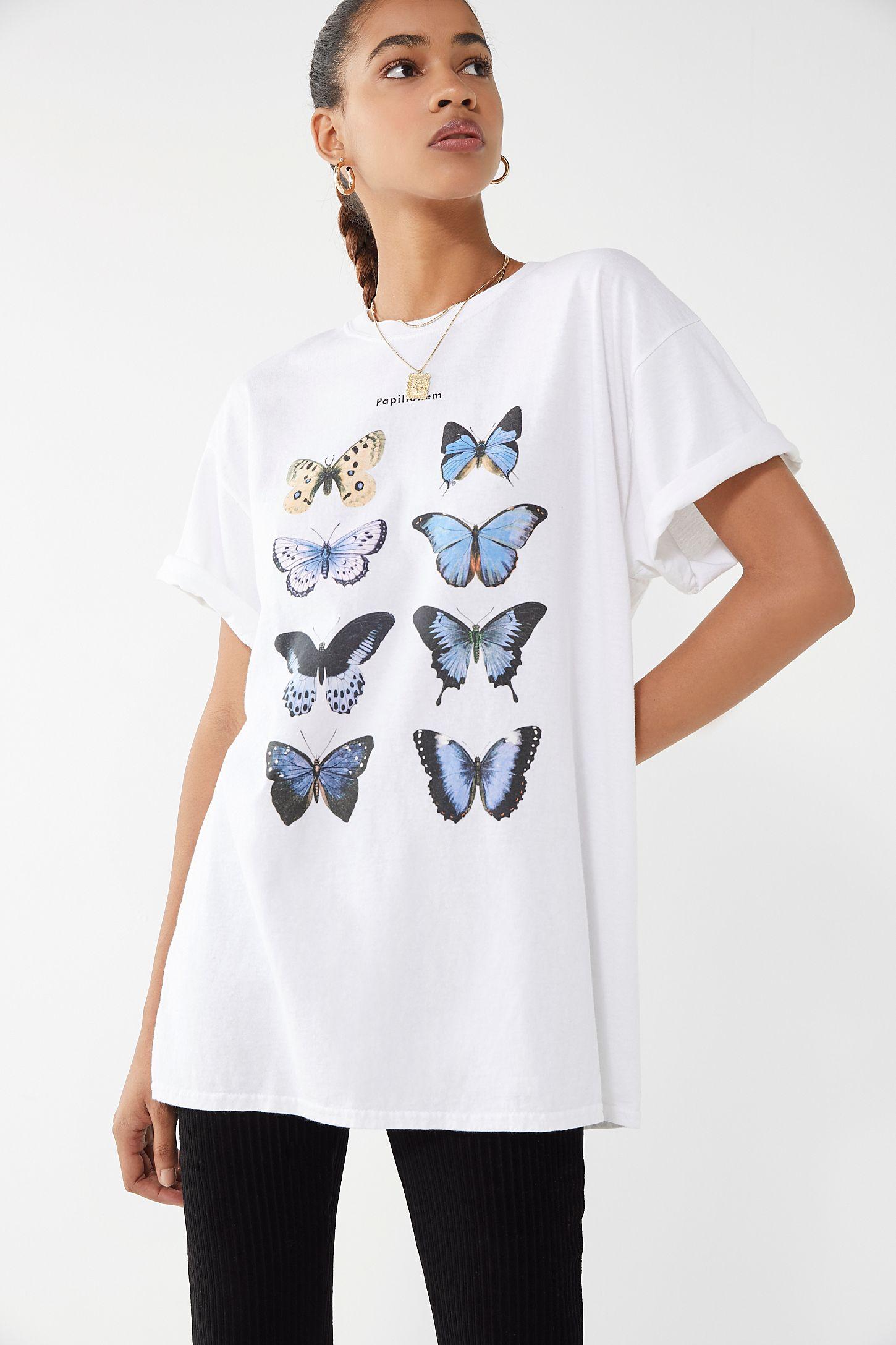 39bc90b67a9ebd Blue Butterfly Tee
