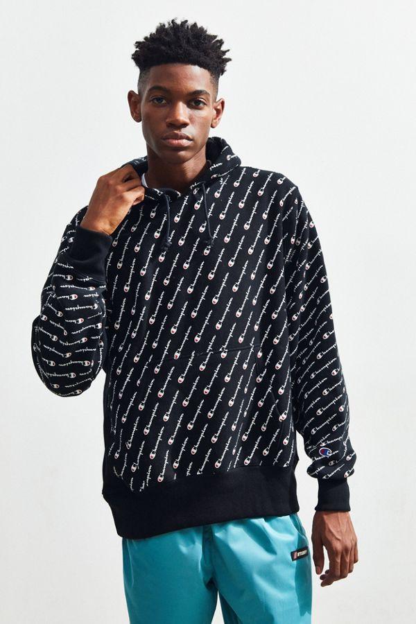 a97f57de Champion Allover Print Reverse Weave Hoodie Sweatshirt   Urban ...