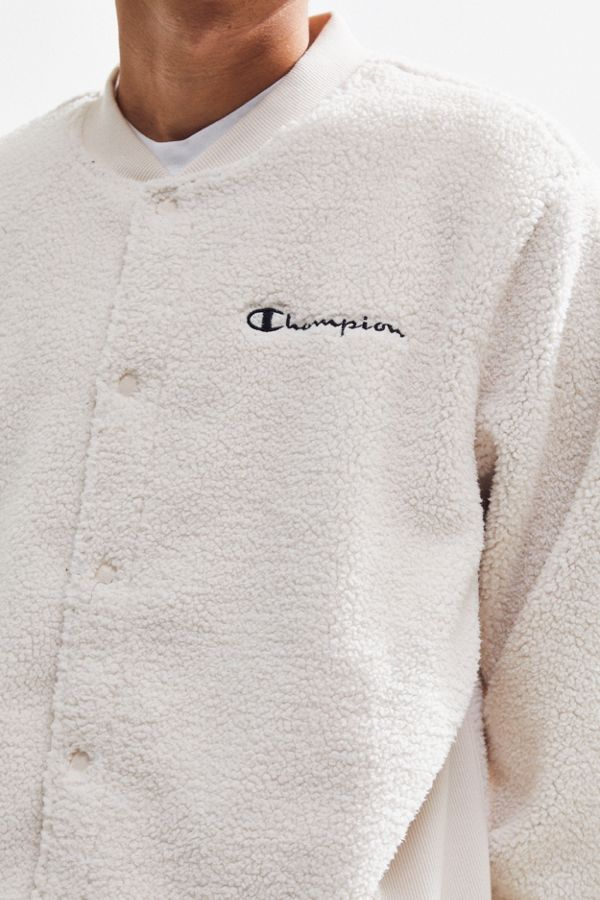 c5df389a Champion UO Exclusive Baseball Sherpa Jacket | Urban Outfitters
